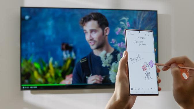 Ilustrasu pengioperasian Samsung Wireless Dex