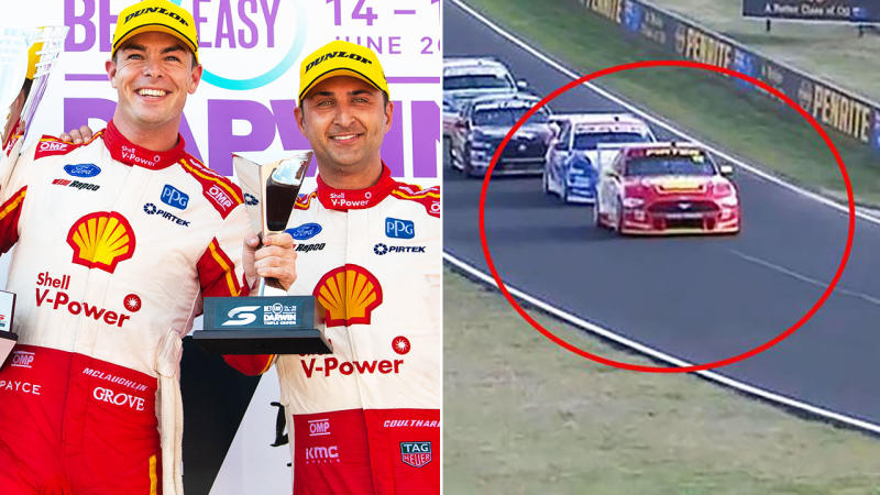 Scott McLaughlin, pictured here with Ford teammate Fabian Coulthard.