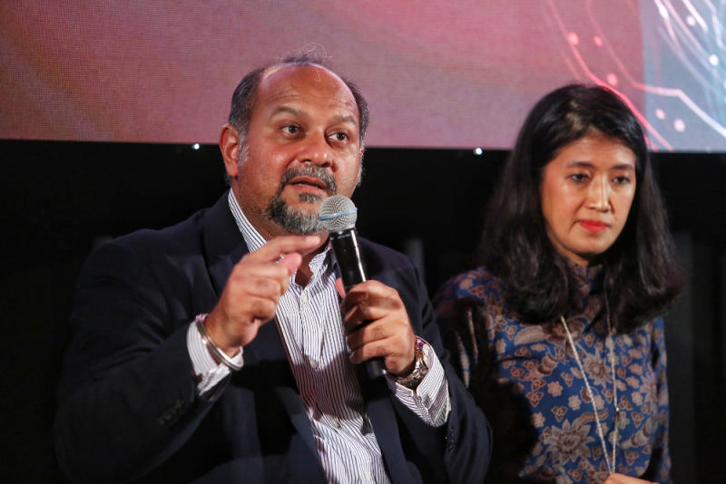Minister of Communications and Multimedia Gobind Singh attends the MY Future Skills and panel discussion December 10, 2019. — Picture by Choo Choy May.