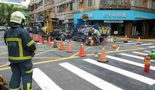 北市大安區驚傳瓦斯外洩 警消緊急封鎖沿街開挖洩漏點