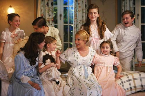 "This photo provided by NBC shows, from left, Sophia Ann Caruso as Brigitta, Ariane Rinehart as Liesl, Michael Nigro as Friedrich, Grace Rundhaug as Marta, Carrie Underwood as Maria, Ella Watts-Gorman as Louisa, Peyton Ella as Gretl, and Joe West as Kurt, in ""The Sound of Music Live!"" This Carrie Underwood-led show was on TV, but Broadway was in its DNA, from the supporting cast _ Christian Borle, Laura Benanti and Audra McDonald _ to co-director Rob Ashford. It was the first full-scale musical staged live for television in more than a half-century and drew an impressive 18.6 million viewers. (AP Photo/NBC, Will Hart, File)"