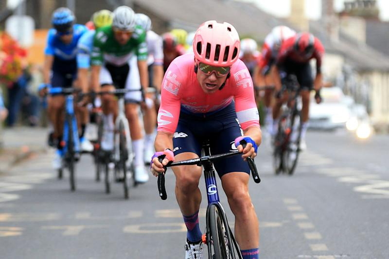 EF Education First's Simon Clarke on the attack during stage 8 of the 2019 Tour of Britain