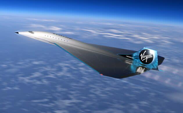 Virgin Galactic supersonic airplane
