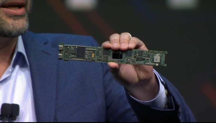 Intel Tiger Lake processor on a laptop motherboard
