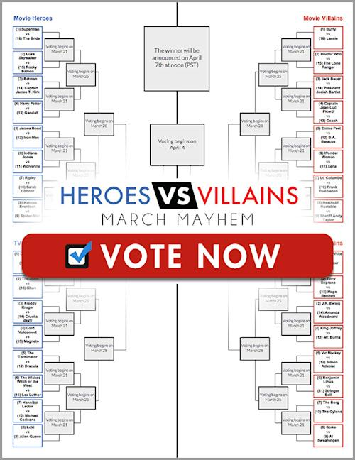 Love March Madness? Check out our Heroes vs. Villains Tourney