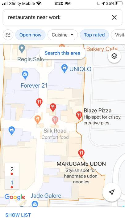 Set home in Google Maps