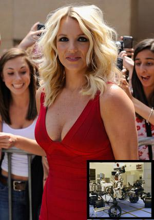 Britney Spears Has Flirty Exchange With Mars Rover