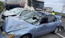 國3台南柳營段嚴重車禍!油罐車追撞4轎車 釀5人輕重傷送醫急救