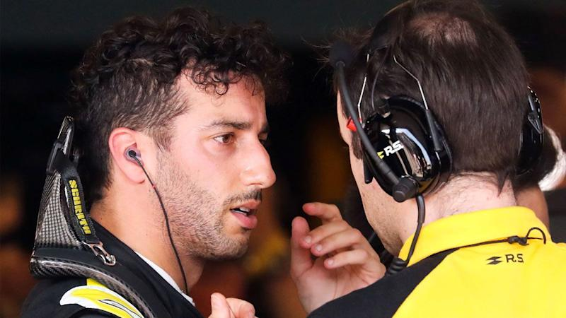 Daniel Ricciardo had 'miserable' pace but still drove his Renault home to finish in the points. Pic: Getty