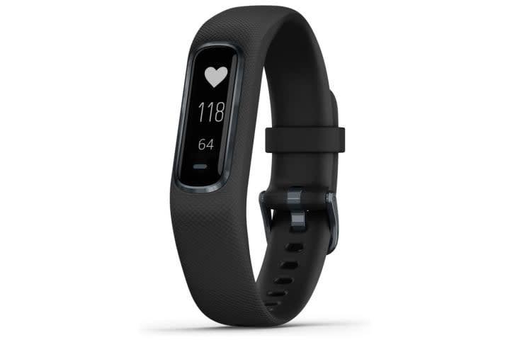 Picture shows the Garmin Vivosmart 4 smartwatch in black