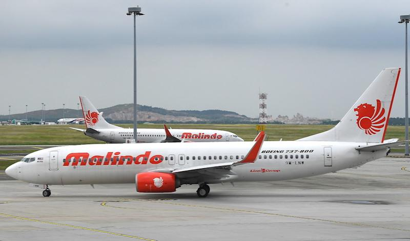 Malindo Air's ATR72-600 twin-propeller plane experienced the fire during start-up at the Sultan Ismail Petra Airport at 8.10pm yesterday. — Bernama pic