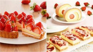 這盤「草莓珠寶」可以吃!美拍系粉紅甜點:紅心蛋糕捲、大理石起司磚、紅寶石派