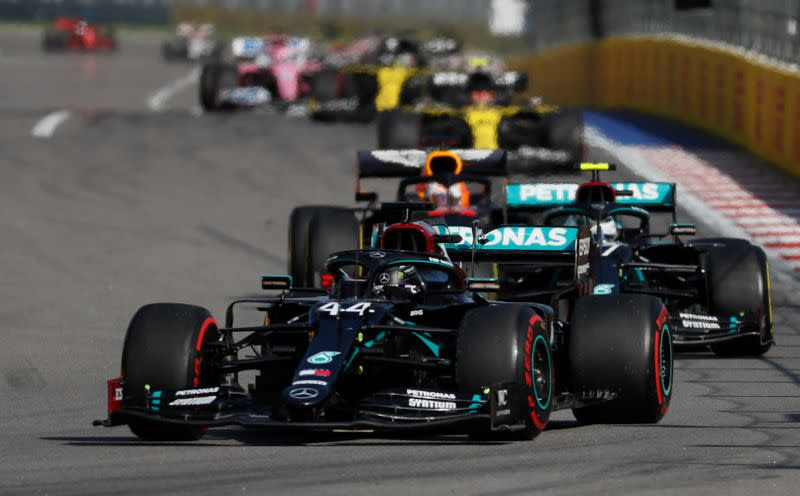 Motor racing: Hamilton's record bid fades after double penalty
