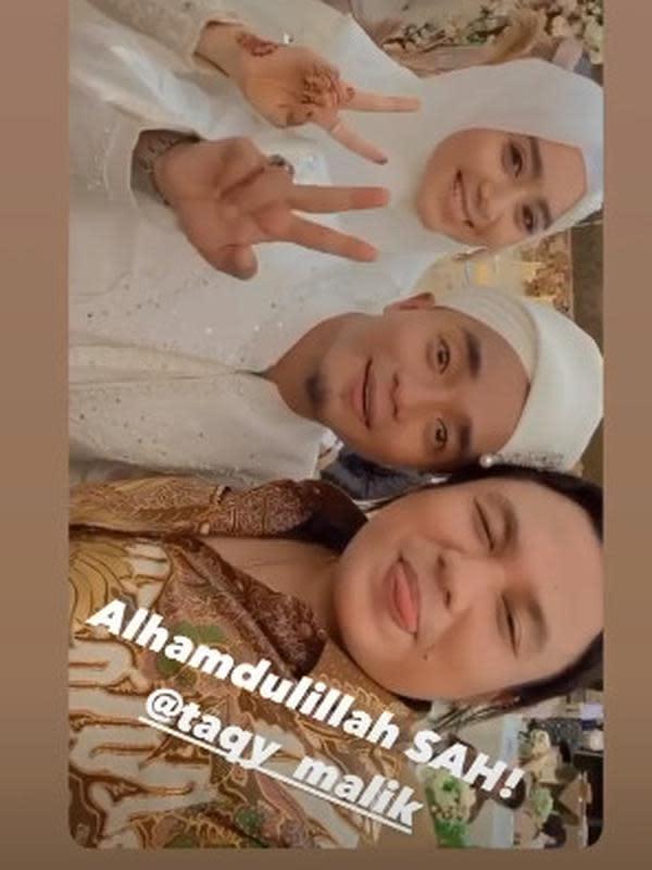 Taqy Malik resmi menikahi selebgram cantik, Serrel Nadirah Thalib. (Sumber: Instagram/@keanuagl)
