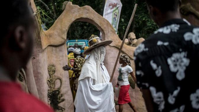 Hutan Keramat Osun Osogbo, Nigeria Barat(Stefan Heunis/AFP)