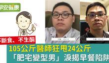 105公斤醫師狂甩24公斤「肥宅變型男」淚揭早餐陷阱