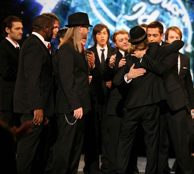 Garrett Haley says farewell after he is eliminated from the 7th season of American Idol.