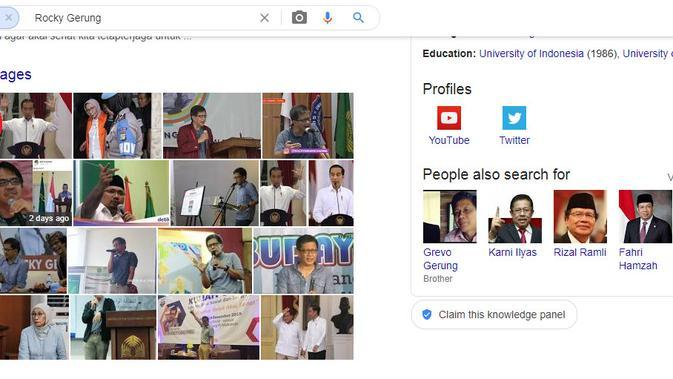 Hasil penelusuran Google Image Rocky Gerung.