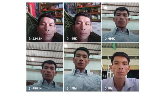 Pria ini bikin konten mematung di TikTok, videonya viral. (Sumber: TikTok/@anhtrantan)