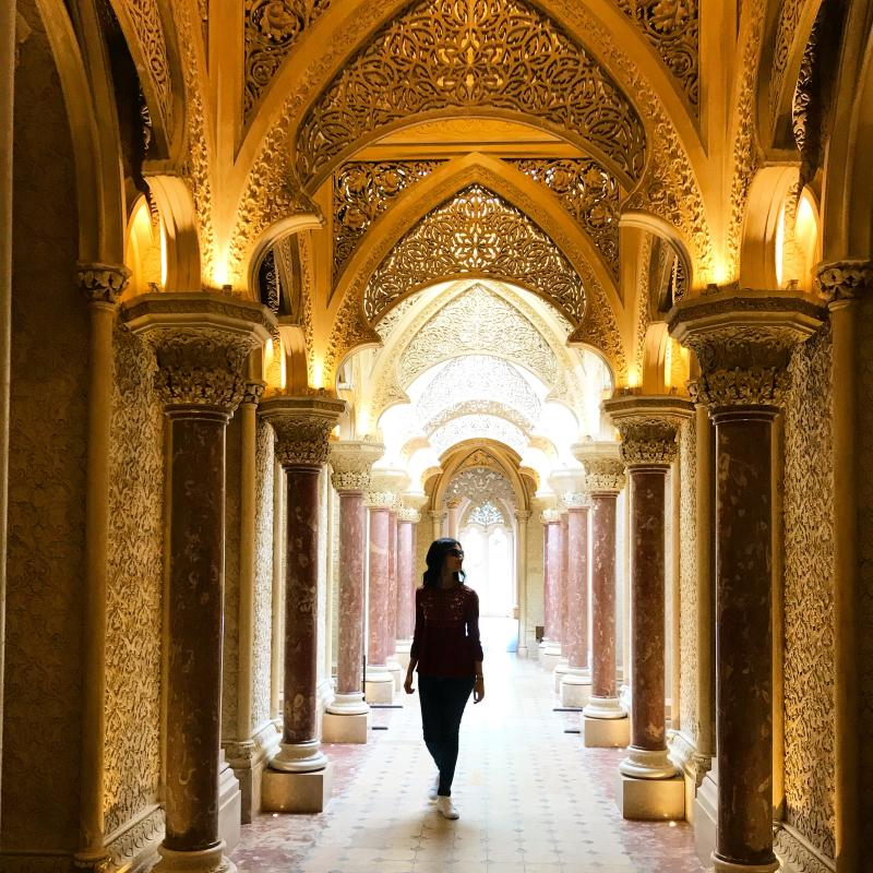 Inside the beautiful Monserrate Palace in Sintra. Photo: Yahoo Lifestyle