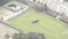 日一救難直升機疑機件故障 急降學校操場