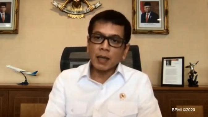 Menteri Pariwisata dan Ekonomi Kreatif Wishnutama Kusubandio mengatakan perlu persiapan sebulan untuk penerapan New Normal (Dok.YouTube/Komarudin)
