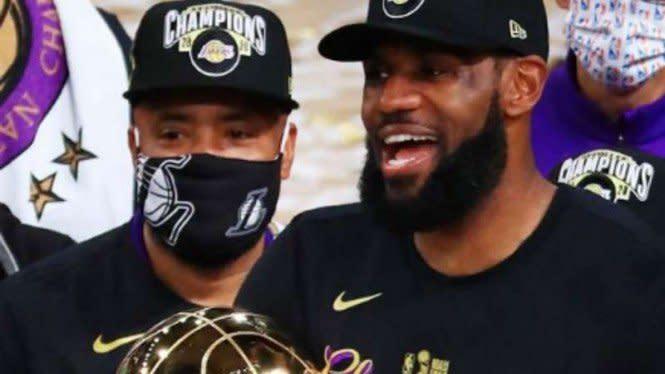 Juara NBA dan Sabet MVP, Persembahan LeBron James untuk Kobe Bryant