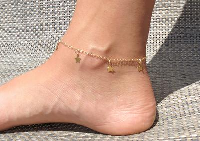 Niobium Anklet Mountain Silhouette Anklet Stainless Steel Layering Anklet Thick Chain Anklet Chain Ankle Anklett