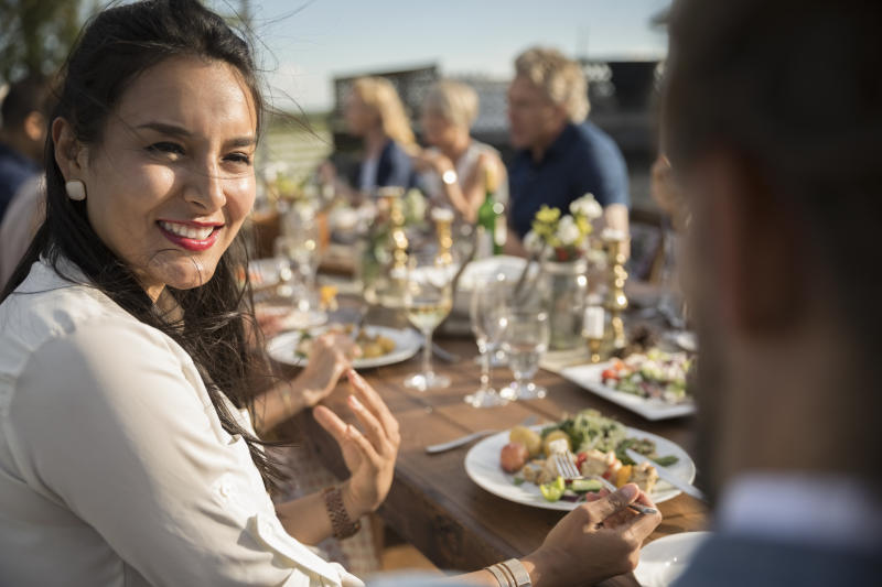 Female wedding guest was surprised when she realised men and women were served different dishes