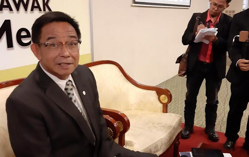 File picture shows Datuk Abdul Karim Rahman Hamzah speaking to reporters November 7, 2019. — Picture by Sulok Tawie