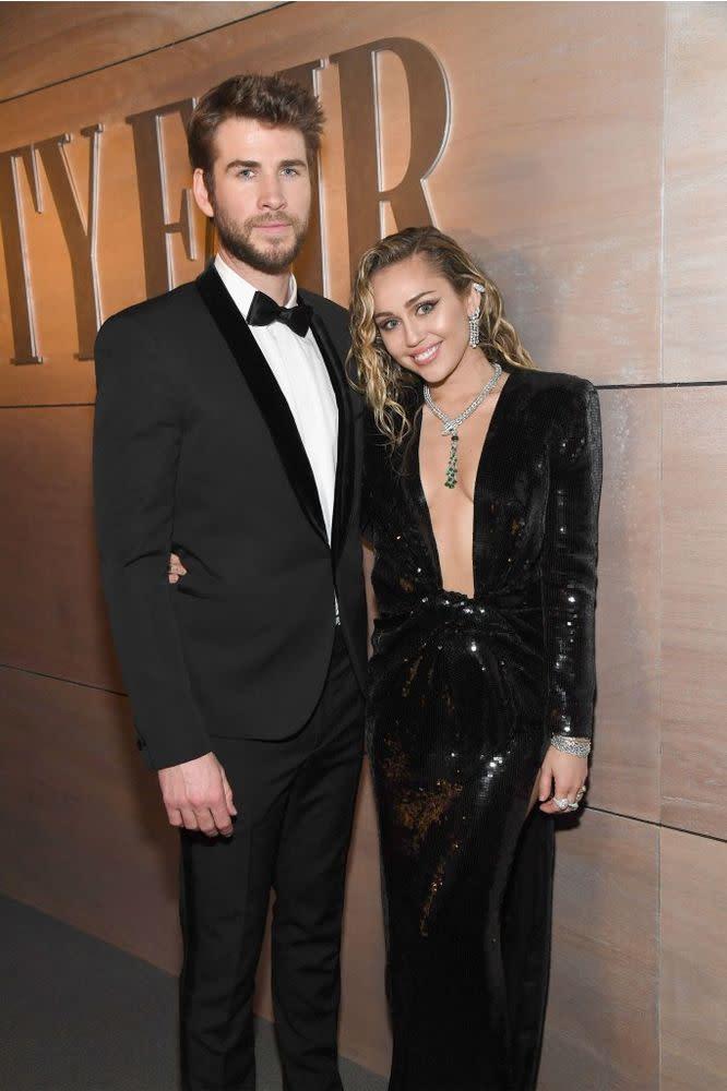Liam Hemsworth and Miley Cyrus   Kevin Mazur/WireImage
