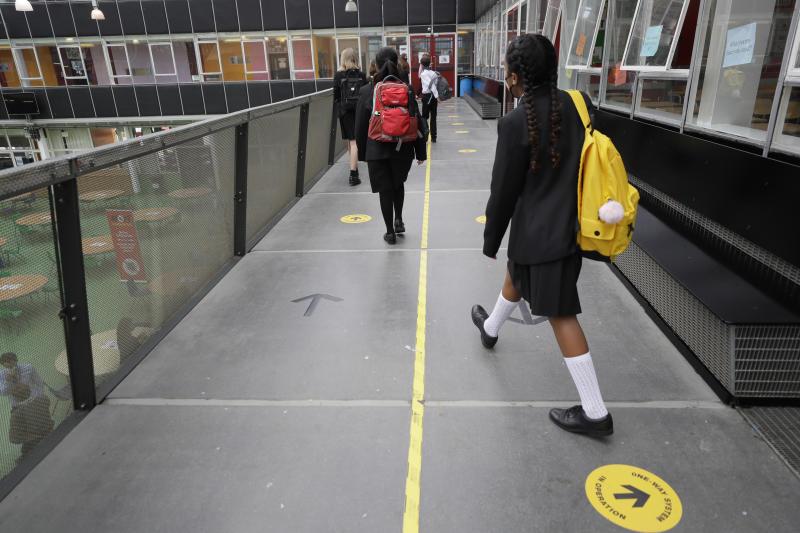Virus Outbreak Britain Schools