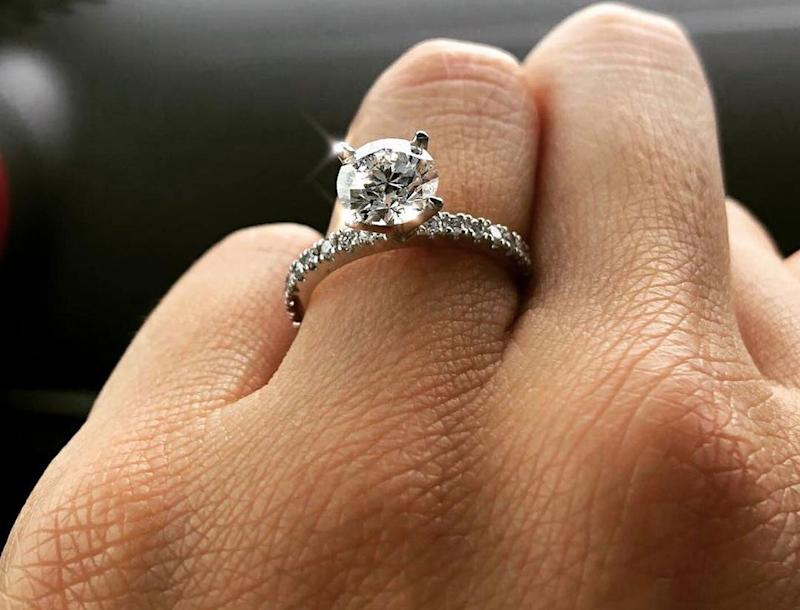 Ms Alchi's father filled the ute with unleaded fuel. It needed diesel. Pictured is her engagement ring. Source: Supplied/ Bianca Alchi