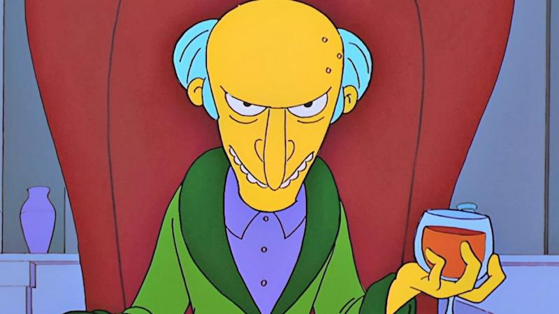 Mr Burns, as voiced by Harry Shearer (Credit: Fox)