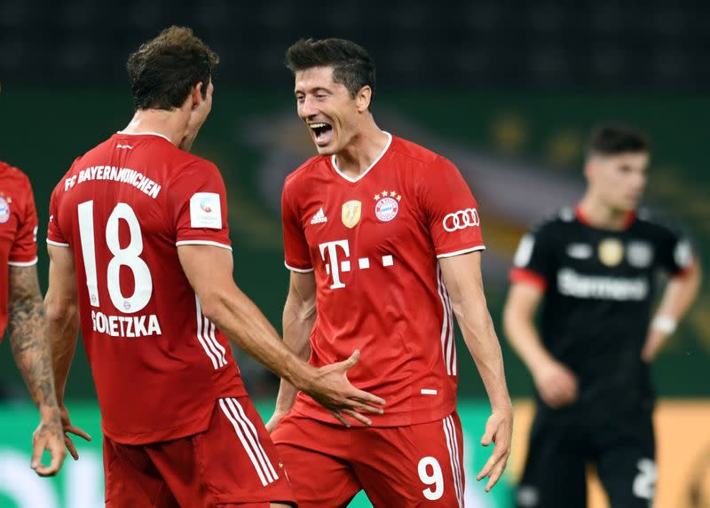Bayern thrash Leverkusen 4-2 to win 20th German Cup title