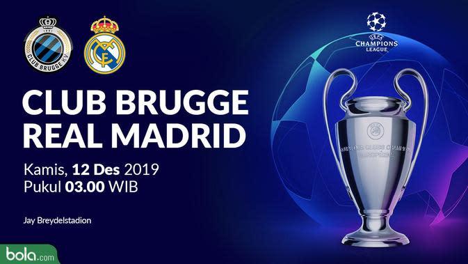 Liga Champions - Club Brugge Vs Real Madrid (Bola.com/Adreanus Titus)