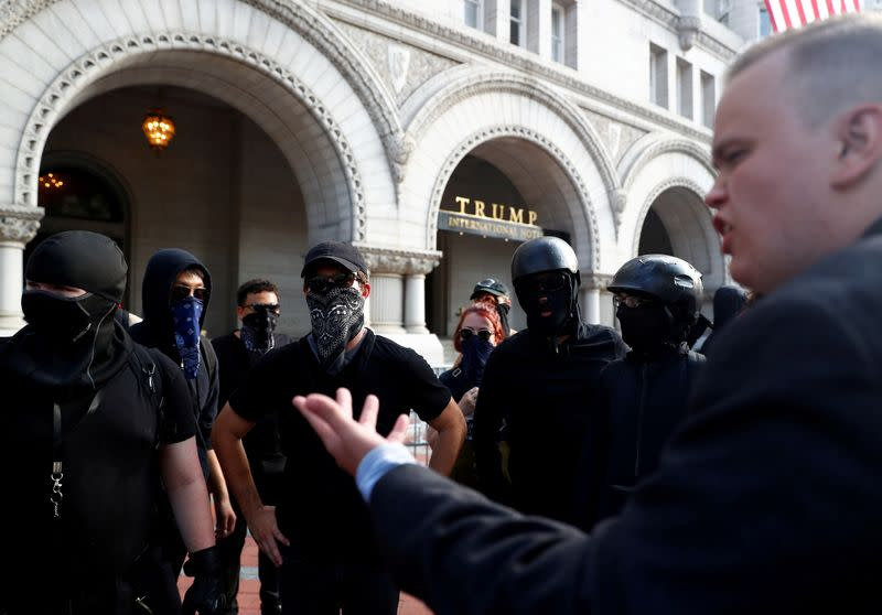FILE PHOTO: Right-wing activists hold a rally in Washington