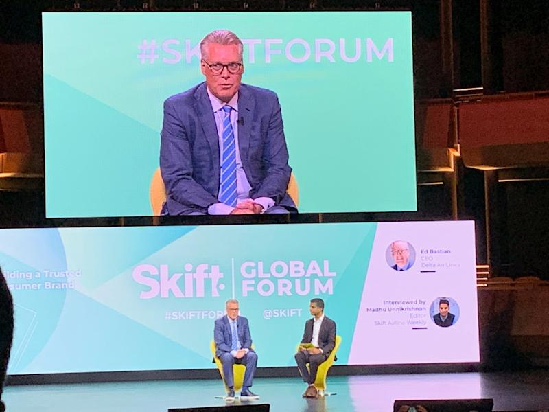 Delta CEO Ed Bastian at Skift Global Forum 2019 in New York City.