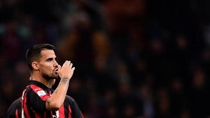 Gelandang AC Milan asal Spanyol, Suso. (AFP/Marco Bertorello)