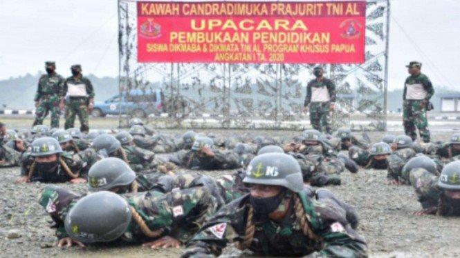 Calon Bintara dan Tamtama TNI Sorong Mulai Dilatih Militer