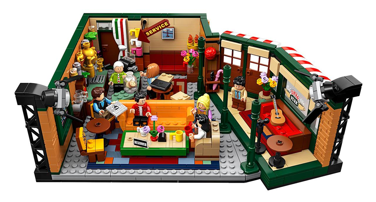 """To celebrate <em>Friends </em>25th anniversary Lego released a Central Perk set complete with all seven characters. Could we BE anymore excited? Suitable for ages 16+. <a href=""""https://fave.co/2neFhxJ"""">Shop here.</a>"""