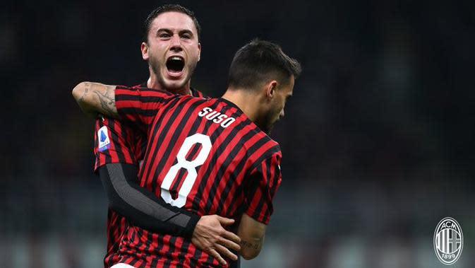 Suso mempersembahkan kemenangan untuk AC Milan saat berhadapan dengan SPAL. (dok. AC Milan)