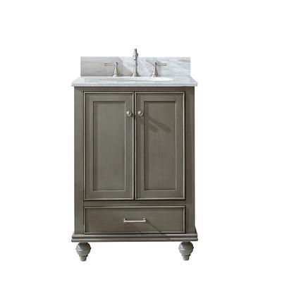 Sterling Rivers Inc Melissa 24 5 In W X 22 In D Bath Vanity In Silver Gray With Marble Vanity Top In Carrara White With White Basin Yahoo Shopping