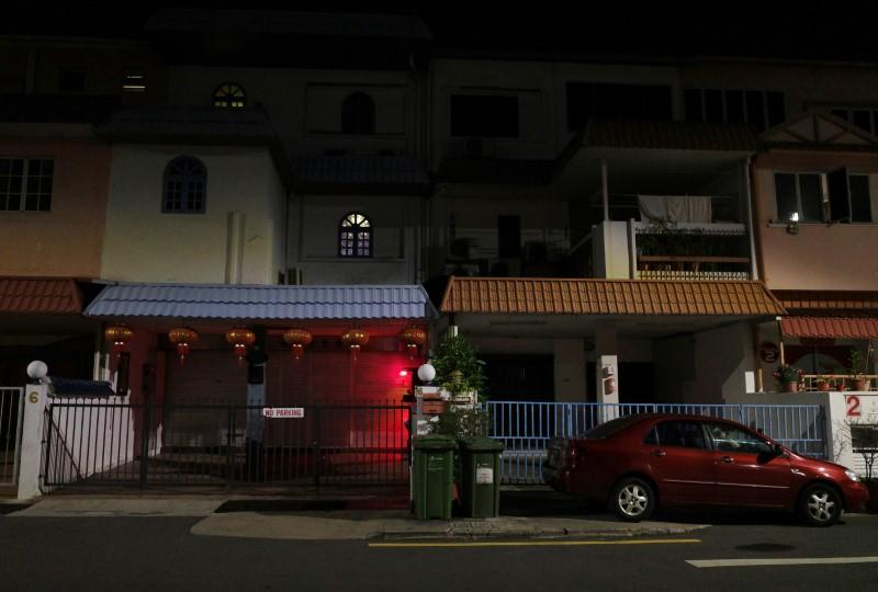 A view of licensed brothels that were shut down shortly before midnight, as part of measures to curb the outbreak of coronavirus disease (COVID-19), in Singapore's red-light district Geylang