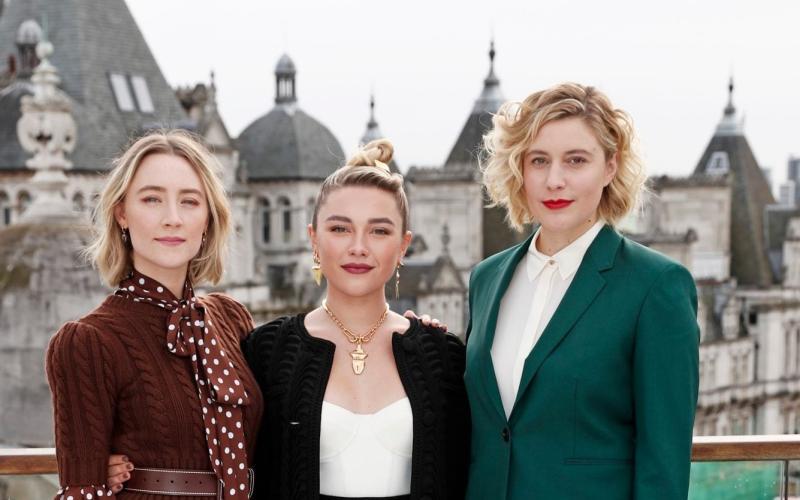 Greta Gerwig with Saoirse Ronan and Florence Pugh, two stars of Little Women - David M Benett/WireImage