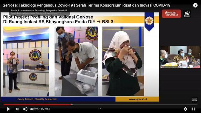 UGM Kembangkan Alat Deteksi Covid-19 lewat Embusan Napas, Akurasi Uji Kalibrasi Capai 97 Persen