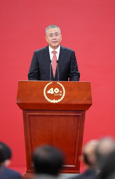 """Chen Zhilie, chairman of Evoc Intelligent Technology, says entrepreneurs make up the """"innovative DNA"""" of the city. Photo: Xinhua"""
