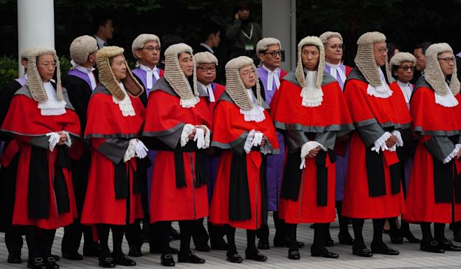 Judges attend the opening ceremony of the legal year on Monday. Photo: Robert Ng