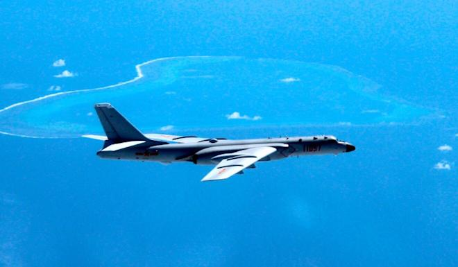 The PLA film showed a simulated attack by H-6k bombers on an airbase in the Pacific region. Photo: AP