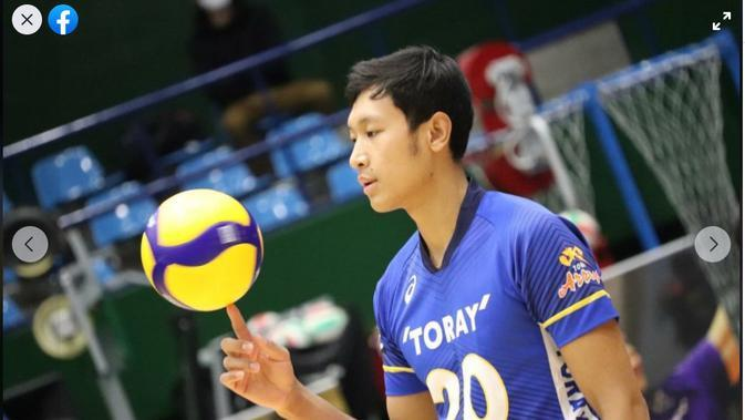 Pemain voli asal Myanmar Aung Thu yang bermain di klub Jepang Toray Arrows. (foto: facebook Naing Aung Thu)